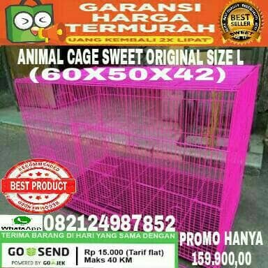harga Kandang besi lipat size l (60x50x42) u/ sugar glider iguana ayam hias Tokopedia.com