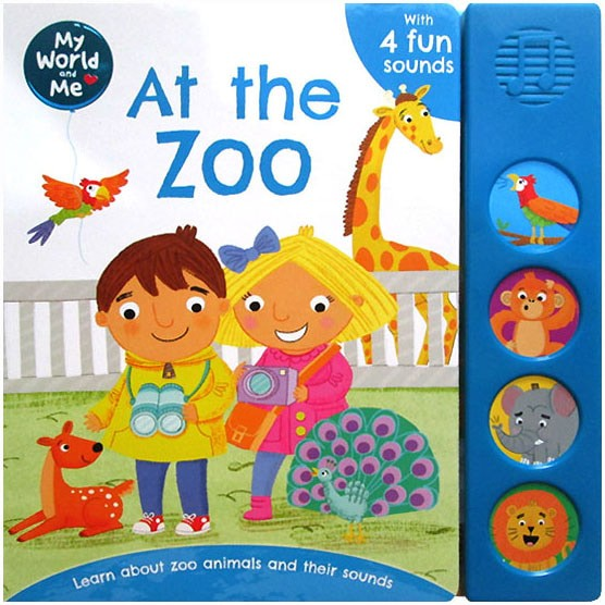 harga My world and me at the zoo sound board book with 4 fun sounds Tokopedia.com