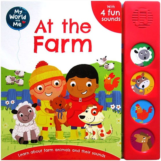 harga My world and me at the farm sound board book with 4 fun sounds Tokopedia.com
