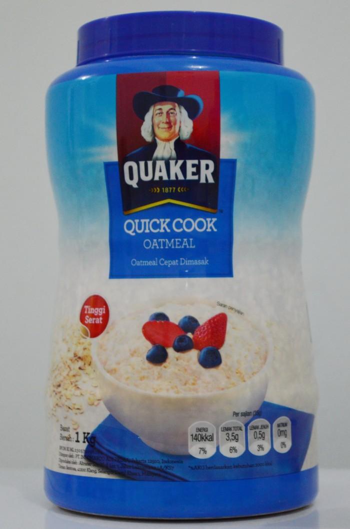 Quaker Quick Cook Oatmeal 1 kg Oatmel Cepat Dimasak - Best Seller