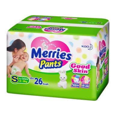 harga Merries pants s26 good skin s 26 popok celana diapers isi 26 pcs Tokopedia.com