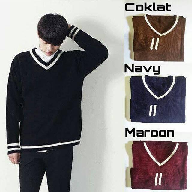 Vieter cotton sweater murah atasan baju rajut pria