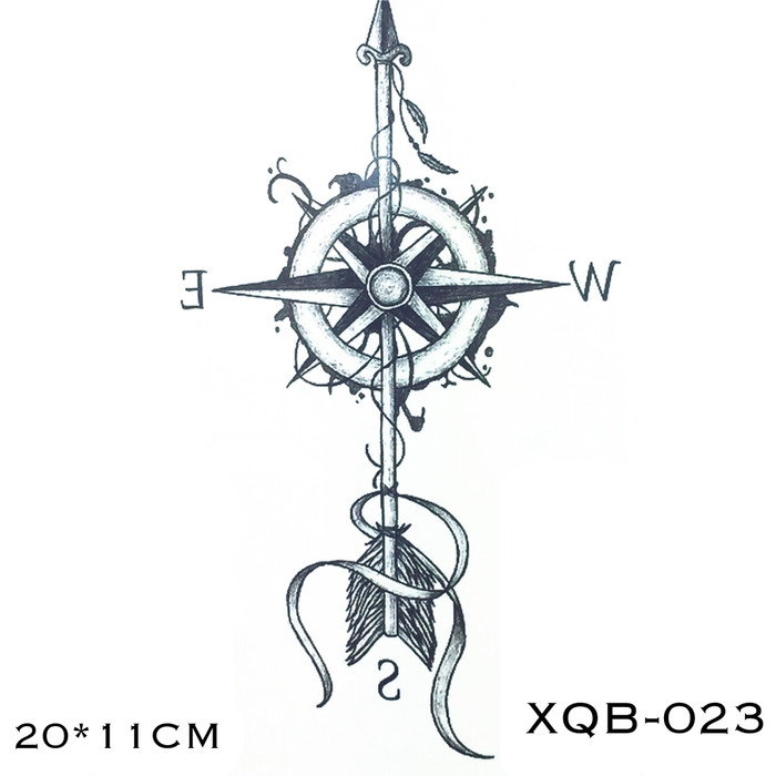 Jual Xqb 023 Temporary Tattoo Compass Tato Kompas Arah Mata Angin