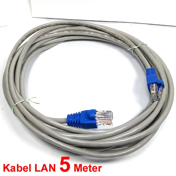 jual kabel lan 5 m terpasag konektor rj45 grosir kabel komputer tokopedia. Black Bedroom Furniture Sets. Home Design Ideas