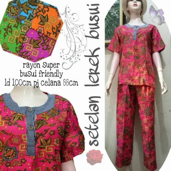 harga Setelan panjang babydoll batik busui Tokopedia.com