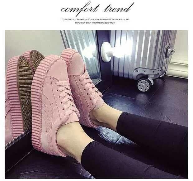Jual Sepatu Sandal Wanita   Sepatu Kets Replika Puma Full Pink Salem ... 97154828ba