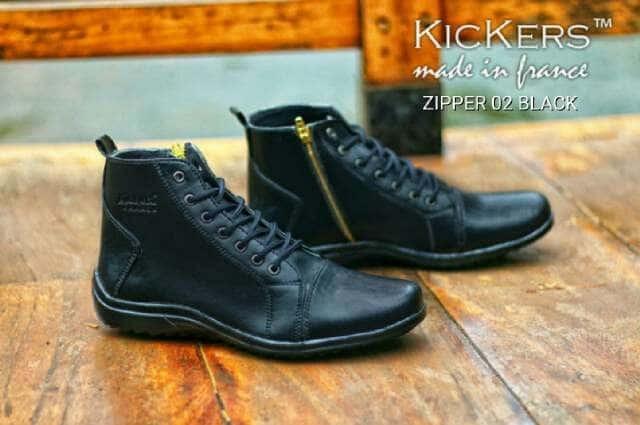 ... harga Sepatu boots pria kickers ziper original premium 3 warna 39-44  sleting Tokopedia. af3121ef83