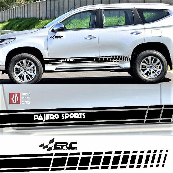 Stiker mobil keren erc strips bawah cutting sticker sports pajero dll
