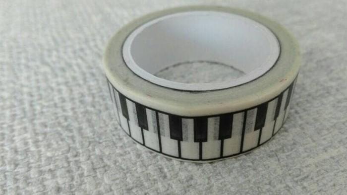 harga Selotip isolasi kertas unik lucu bentuk tuts piano keyboard Tokopedia.com