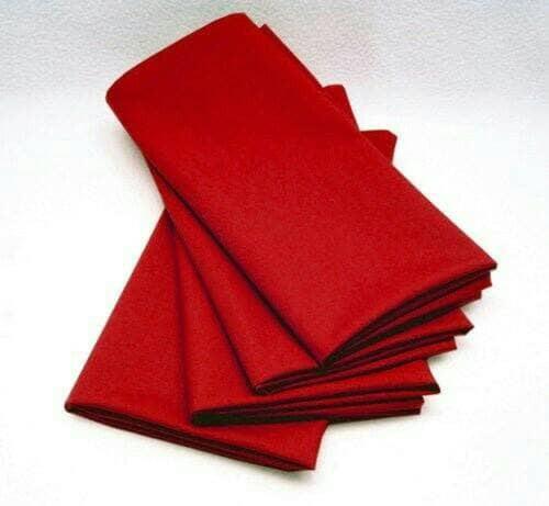 Foto Produk Serbet makan/napkin damask/full cotton merah polos dari davidoff_store