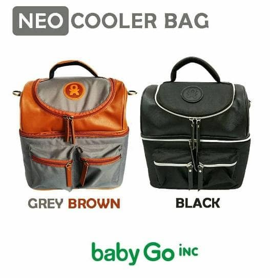 Baby go inc neo cooler bag grey brown / black asi babygo inc babygoinc