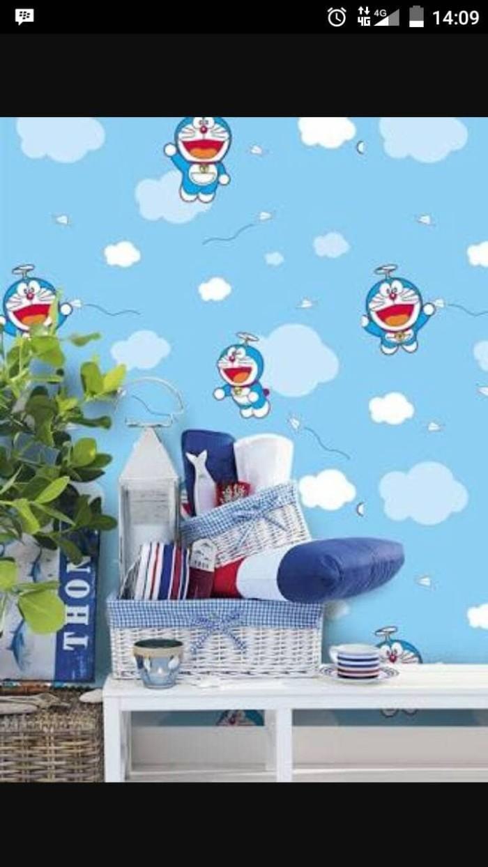 Jual Wallpaper Dinding Motif Doraemon Kota Serang Hena Shop