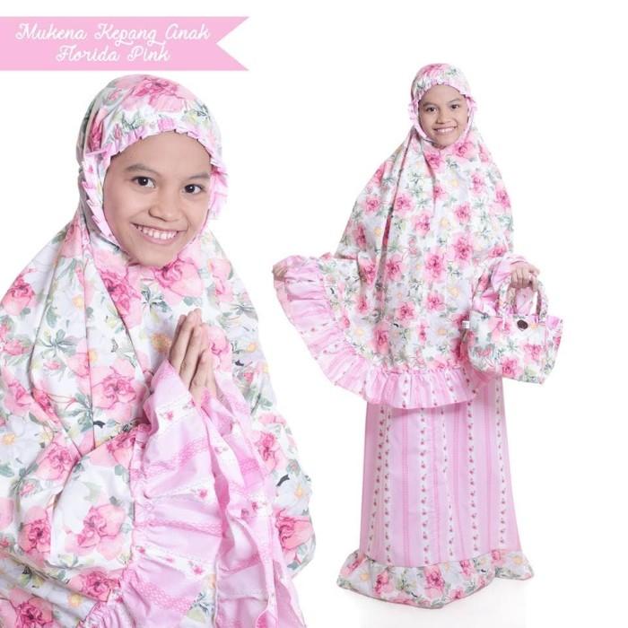 ... harga Mukena anak katun jepang murah florida pink telekung cantik adem baru Tokopedia.com