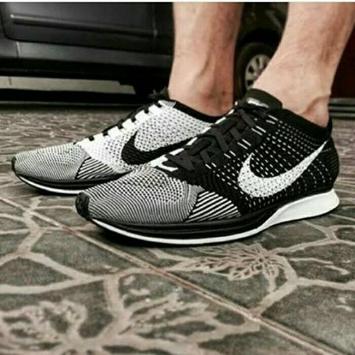 Sepatu nike flyknit racer black white premium original quality harga ... 3bc4059a81