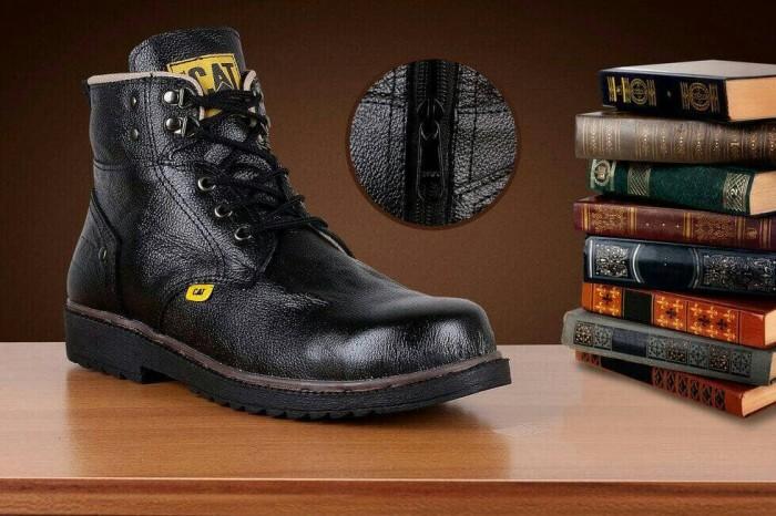 Jual sepatu boots caterpillar king ujung besi asli cek harga di ... badbd3f307