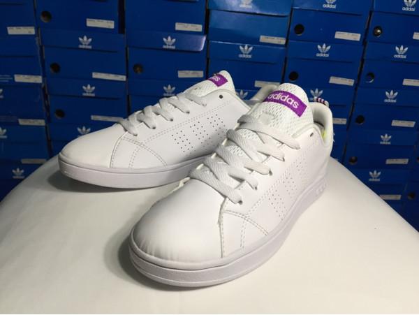 0edf1fdbc64 Jual adidas neo advantage clean white list purple ORIGINAL ...