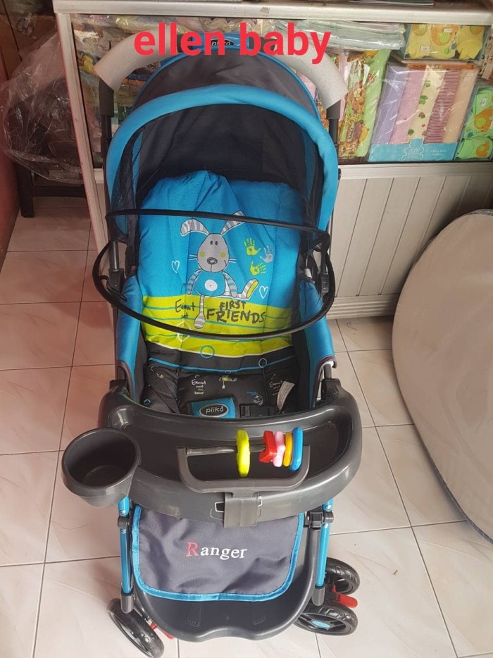 harga Stroller pliko ranger 4in1. hadap depan belakang, baby walker, ayunan Tokopedia.com