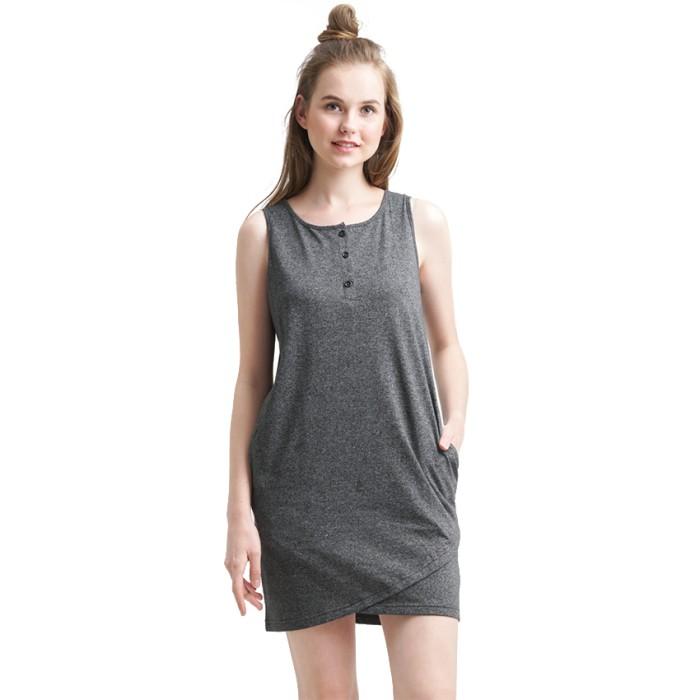 harga Minimal mignon overlap dress melange - abu-abu muda m Tokopedia.com