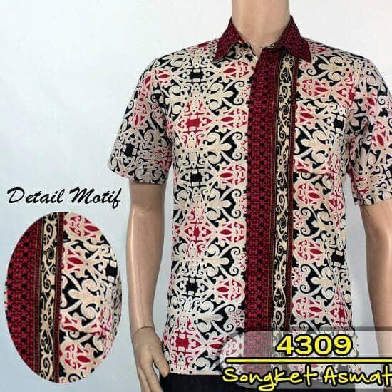Jual Kemeja Batik Pria   Baju Batik Songket Etnik Dayak - Batik Naya ... 5599eac777