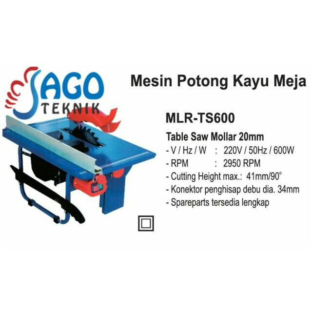 harga Mesin table saw mollar ts600 Tokopedia.com