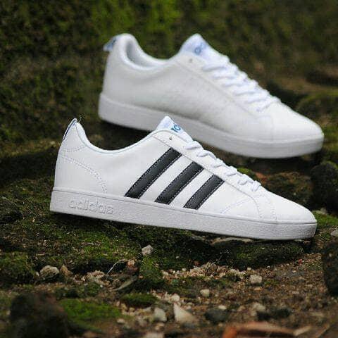 Sepatu Adidas Neo Advantec White Black Original Putih, 38