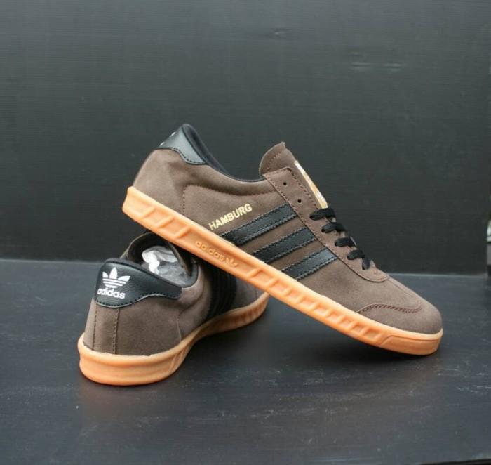 Jual Sepatu Adidas Hamburg Adidas Hamburg Coklat Hitam Sepatu