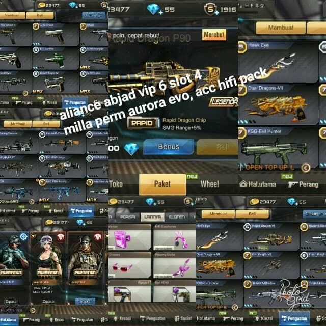 Jual Akun Crisis Action Vip 6 Slot 4 Server Aliance Login Abjad Kota Depok Anu Store Tokopedia