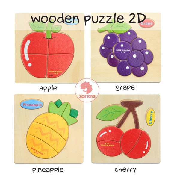 Zoetoys Wooden Puzzle 2d