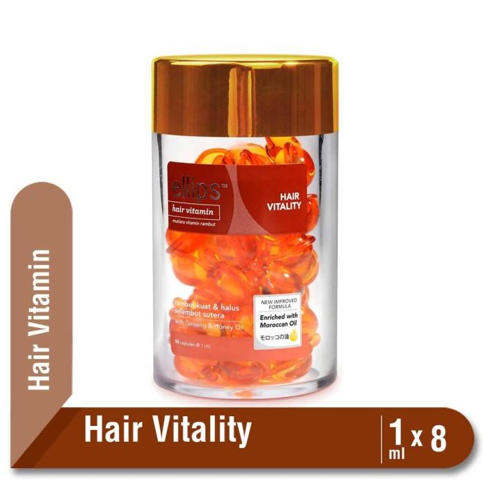 harga Ellips hair vitamin moroccan oil hair vitality jar 50 x 1 ml Tokopedia.com