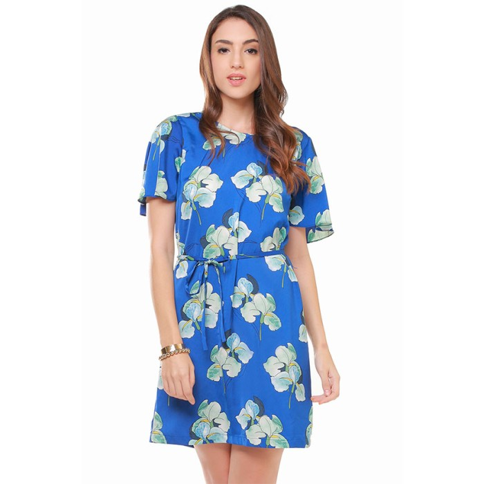 harga Minimal flower shift dress blue flower - mnm0814-40054530016 - biru s Tokopedia.com