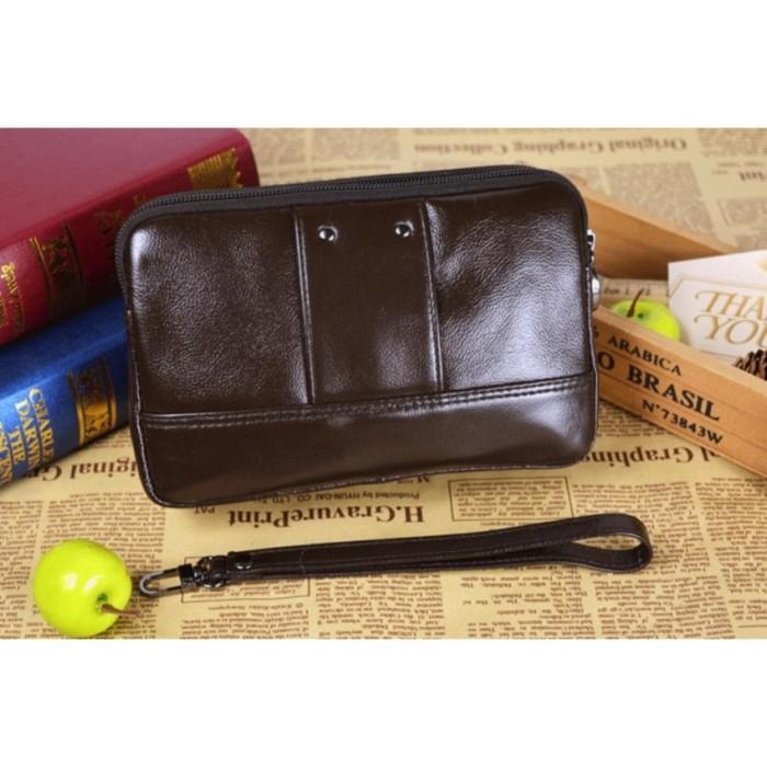 Handbag mini kulit - dompet hp cheer soul 3222 coklat - hpo
