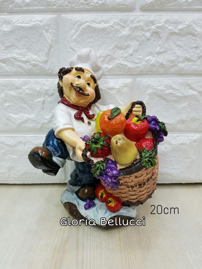 Patung pajangan koki buah / chef