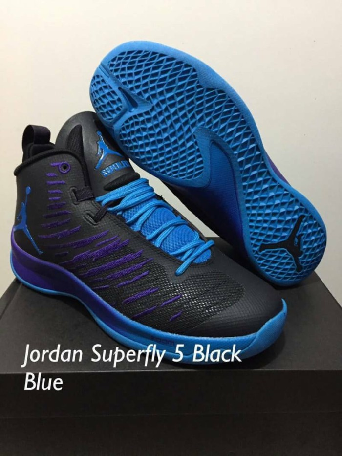 dc0b55f83876 Jual sepatu basket air jordan superfly 5 black blue purple - Kota ...