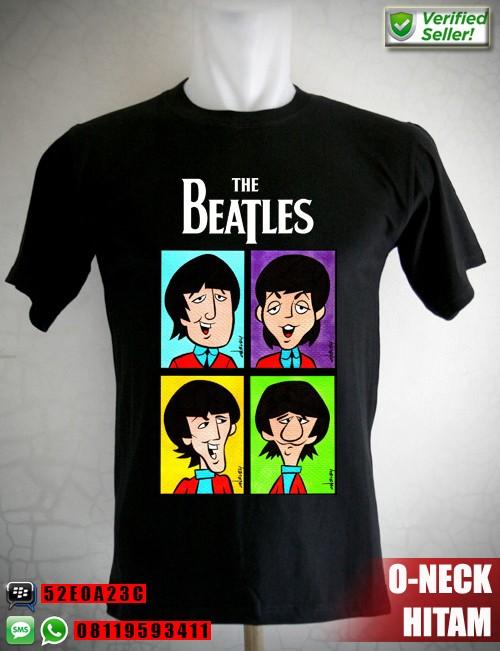 harga Kaos the beatles cartoon faces Tokopedia.com