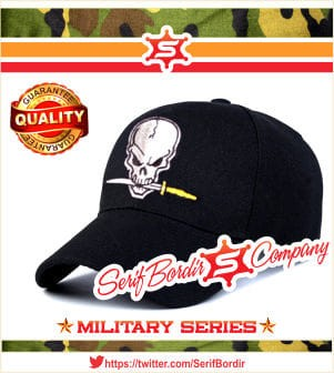 Topi Pria Baseball Skull Saw Hitam Police Bordir Import Tactical
