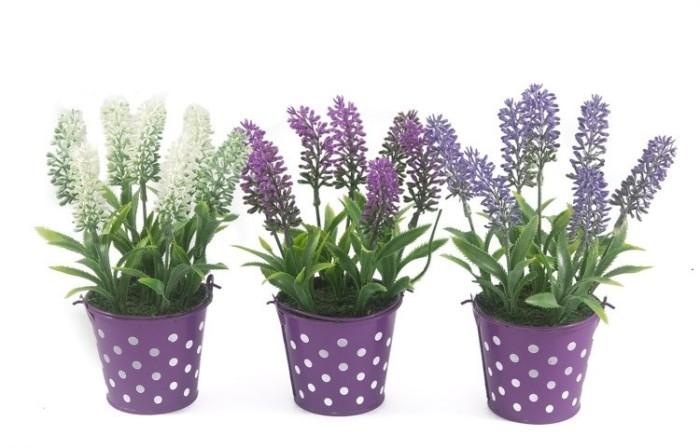 harga Bunga lavender artificial pot kaleng - tanaman plastik hias dekorasi  Tokopedia.com 1fb1abbd4d
