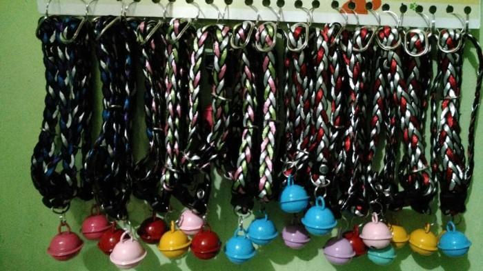 kalung collar kucing musang kelinci anjing kepang lonceng murah grosir