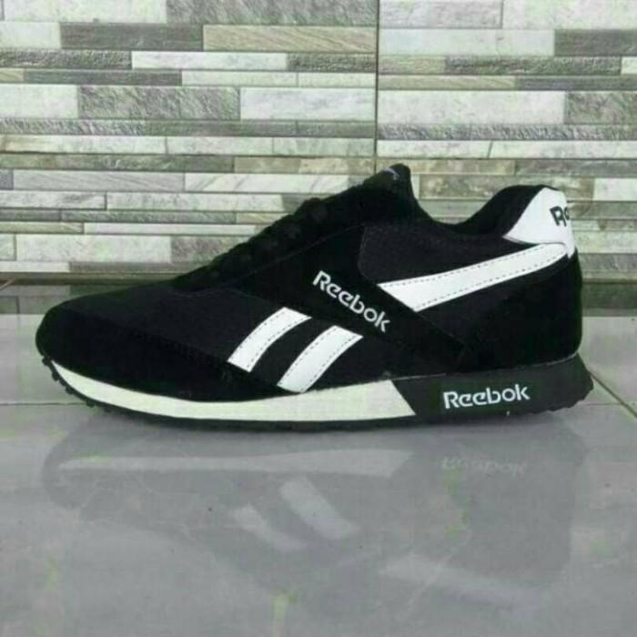 harga Sepatu reebok hitam putih high quality Tokopedia.com