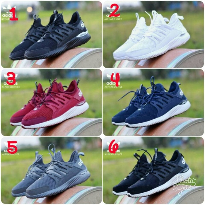 harga Sale promo sepatu snakers pria casual nyaman adidas alfa bounce murah Tokopedia.com