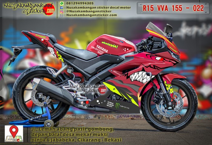 Yamaha R15 V3 Movistar Sticker