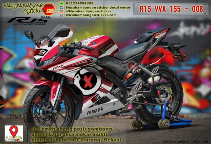 Yamaha R15 V3 Graphics Stickers Online
