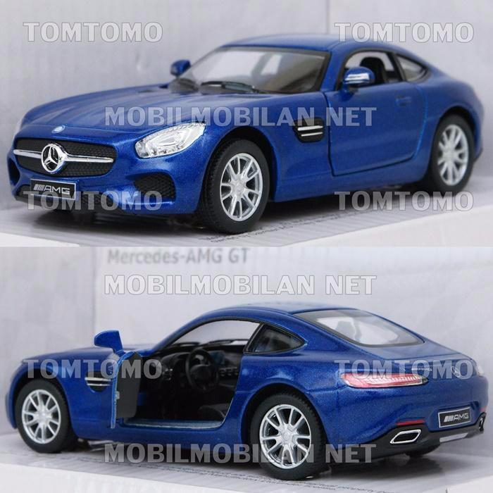 Jual Kinsmart Mercedes Amg Gt Blue Diecast Miniatur Mobil Mobilan