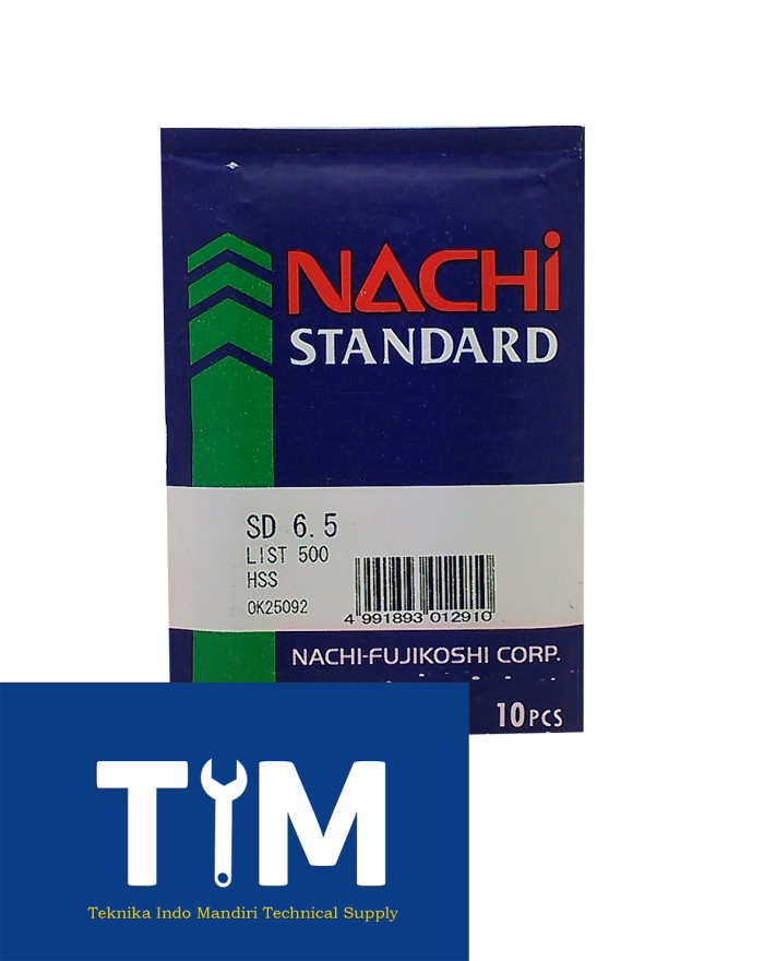 harga (nachi) mata bor besi hss 6.5mm Tokopedia.com