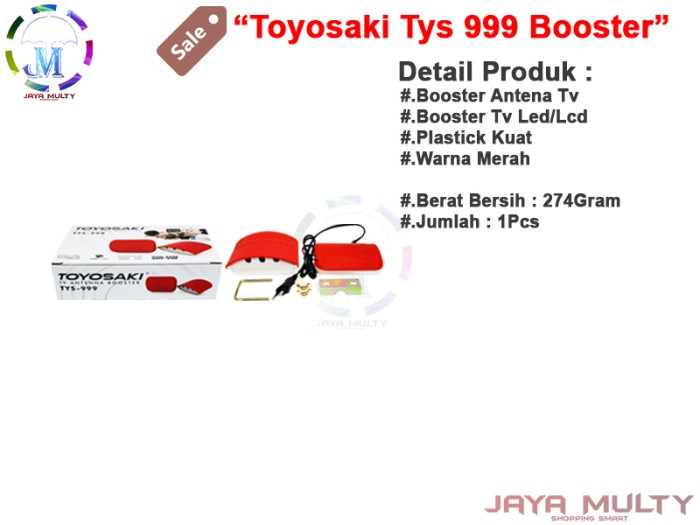 Toyosaki Tys 999 Jm Booster Filter Uhf / Vhf Saluran Antena Tv Jernih