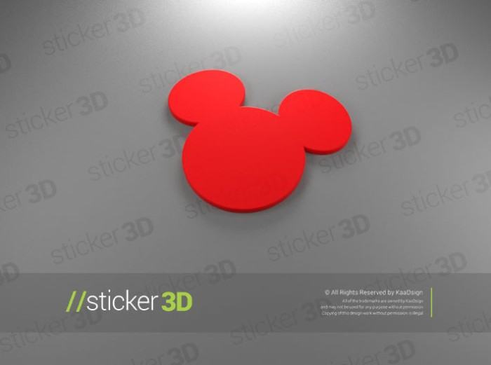 harga Mickey mouse 01 - 3d sticker emblem Tokopedia.com