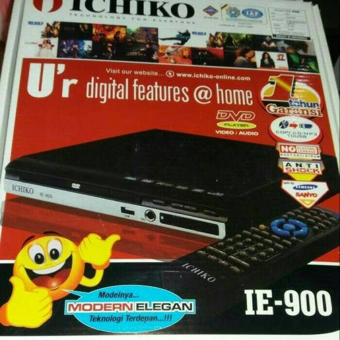 harga Ichiko mini dvd player alat pemutar kaset cd dvd vcd mp3 mp4 karaoke Tokopedia.com