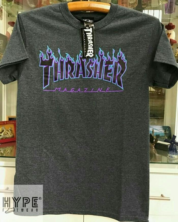 18b7b19e7a8f Jual Thrasher Flame Dark Heather Grey T-shirt - Kota Bogor - hype ...