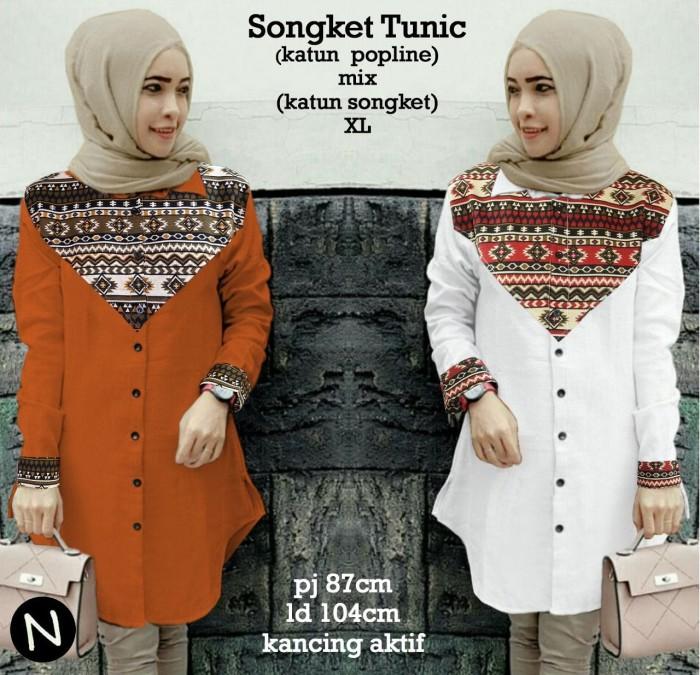 harga 58362 songket tunic/baju tunik murah/baju batik wanita/atasan muslim Tokopedia.com
