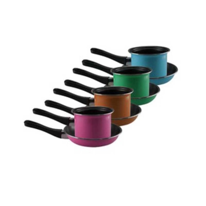Maspion Pastela Set Panci Susu 14cm + Frypan 20cm - Multi Colour