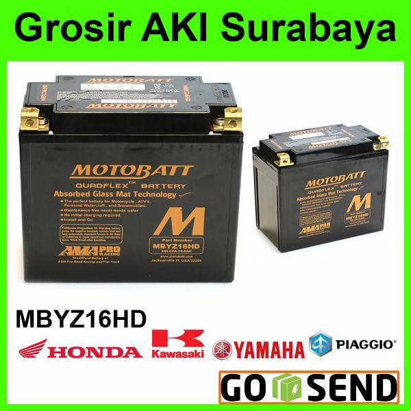 harga Aki motobatt mbyz16hd 16a accu battery baterai motor gede sport vespa Tokopedia.com